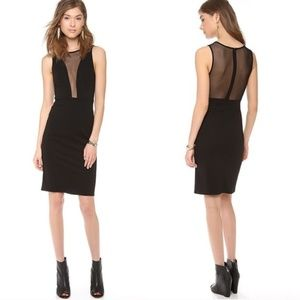 For Love & Lemons Lulu Pencil Dress in Black